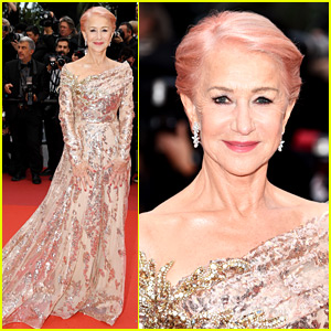 Helen Mirren Debuts New Pink Hair at Cannes Film Festival!
