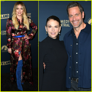 Hilary Duff, Sutton Foster, & 'Younger' Cast Mates Step Out to Promote Season 6!