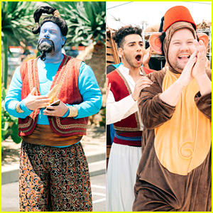James Corden Dresses as Genie & Abu For 'Aladdin' Crosswalk Musical with 'Aladdin' Cast - Watch!