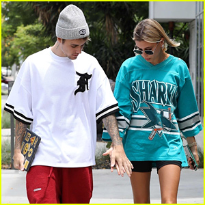 Justin & Hailey Bieber Holds Hands While Stepping Out for Breakfast