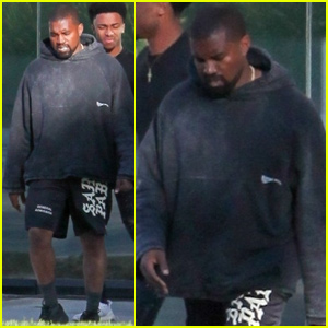 Kanye West Steps Out After Revealing Newborn Baby's Name