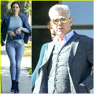 Katharine McPhee Stops By Courthouse with Fiance David Foster