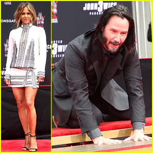 Halle Berry & 'John Wick' Stars Support Keanu Reeves at Hand & Footprint Ceremony!
