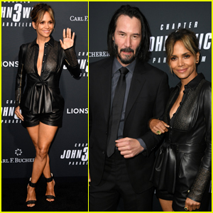 Keanu Reeves & Halle Berry Hit the Black Carpet at 'John Wick 3' Premiere!