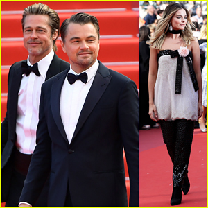 Leonardo DiCaprio, Brad Pitt & Margot Robbie Hit Cannes for 'Once Upon a Time in Hollywood' Premiere!
