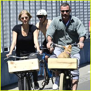 Liev Schreiber & Girlfriend Taylor Neisen Take a Bike Ride Together in NYC