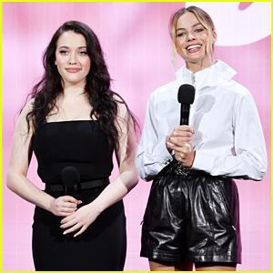 Margot Robbie & Kat Dennings Talk 'Dollface' at Hulu Upfronts