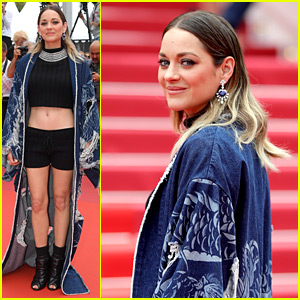 Marion Cotillard Wears a Crop Top & Shorts on Cannes Red Carpet!