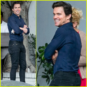 Matt Bomer Catches a Ride After Lunch at Chateau Marmont