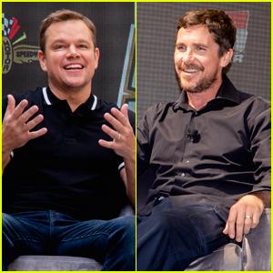 Matt Damon & Christian Bale Promote Their New Movie 'Ford v. Ferrari' at Indy 500