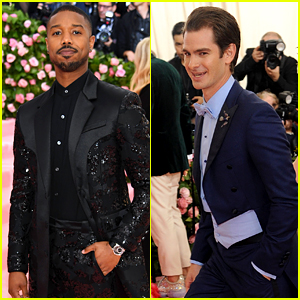 Michael B. Jordan & Andrew Garfield Look Dapper at Met Gala 2019!