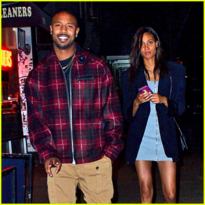Michael B. Jordan Can't Stop Smiling After Dinner with Model Cindy Bruna