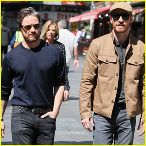 James McAvoy & Michael Fassbender Team Up For 'Dark Phoenix' Promo in London