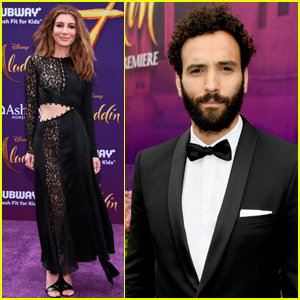 Nasim Pedrad & Marwan Kenzari Attend 'Aladdin' Premiere in Hollywood!
