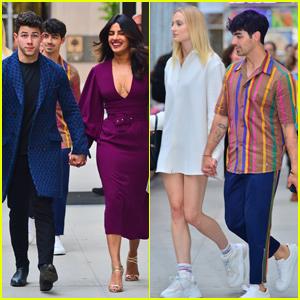 Nick Jonas & Priyanka Chopra Join Joe Jonas & Sophie Turner For Broadway Date Night