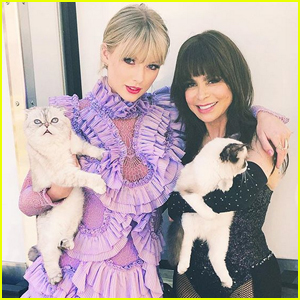 Paula Abdul Snaps Photo with Taylor Swift's Cats - Even Though She's Allergic!