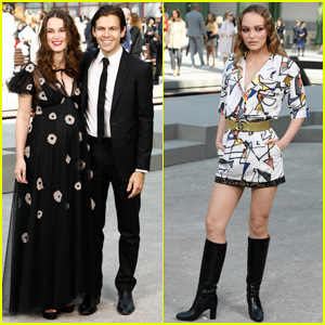 Pregnant Keira Knightley & Husband James Righton Join Lily-Rose Depp at Chanel Resort Show