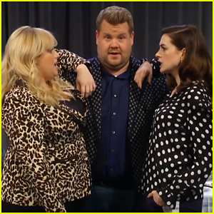 Rebel Wilson & Anne Hathaway Fight To Be James Corden's Best Friend - Watch Here!