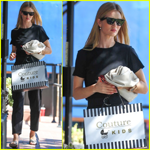 Rosie Huntington-Whiteley Makes a Shopping Stop For Son Jack