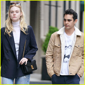 Rumored Couple Elle Fanning & Max Minghella Go For Friday Afternoon Stroll