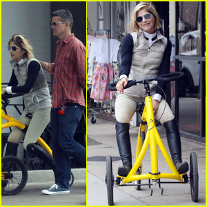 Selma Blair Uses Walking Bike for Outing with Boyfriend David Price