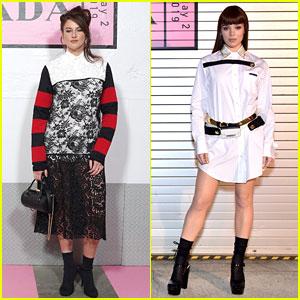 Shailene Woodley & Hailee Steinfeld Attend Prada Resort 2020 Fashion Show