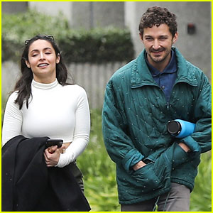 Shia Labeouf Attends Kanye West's Sunday Service With Gal Pal