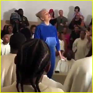 Sia Ditches Her Wig & Disguise to Sing with Kanye West's Choir