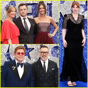 Taron Egerton Gets Support from Girlfriend Emily Thomas & Elton John at 'Rocketman' UK Premiere!