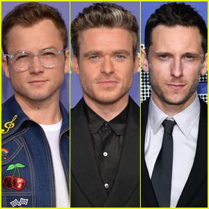Taron Egerton, Richard Madden, & Jamie Bell Arrive in Style for 'Rocketman' NYC Premiere!