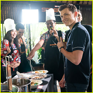 Tom Holland Plays Chef Judge for 'Spider-Man' Food Competition
