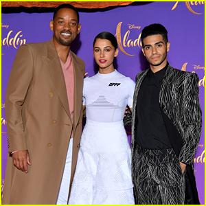 Will Smith, Mena Massoud, & Naomi Scott Bring 'Aladdin' to Paris