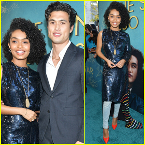 Yara Shahidi & Charles Melton Step Out for 'The Sun is Also a Star' Premiere