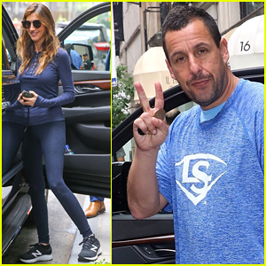 Adam Sandler & Wife Jackie Step Out After 'Murder Mystery' Breaks Netflix's Opening Record