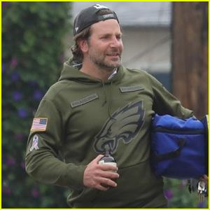 Bradley Cooper Heads to a Beach Party in Malibu