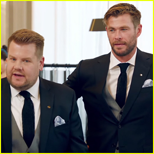 Chris Hemsworth & James Corden Compete To Be The Best Waiter in 'Late Late Show' Sketch!