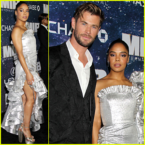 Chris Hemsworth & Tessa Thompson Attend the 'Men in Black: International' NYC Premiere!