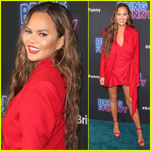 Chrissy Teigen is Red Hot at 'Bring the Funny' Premiere!