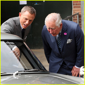 Daniel Craig Gets a Visit From Prince Charles on the 'James Bond' Set