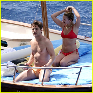 Diego Boneta Goes Shirtless on a Boat Ride With Girlfriend Mayte Rodriguez on Vacation in Italy