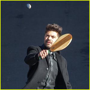 Dominic Cooper Plays Racquetball on 'Preacher' Set