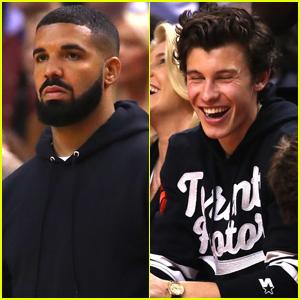 Drake & Shawn Mendes Support Toronto Raptors at NBA Finals 2019!
