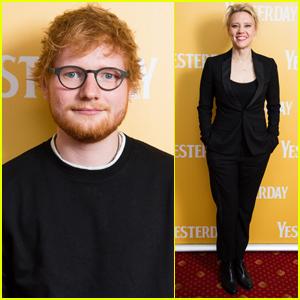 Ed Sheeran & Kate McKinnon Attend Special Screening of 'Yesterday'