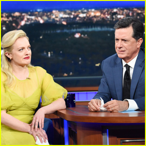 Elisabeth Moss Battles Stephen Colbert in a Cry Off - Watch Now!