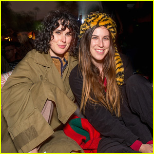 Rumer & Scout Willis Step Out For 'The Goonies' Screening at Cinespia