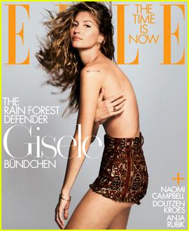 Gisele Bundchen, Naomi Campbell, Doutzen Kroes & Anja Rubik Cover Elle's Conservation Issues!