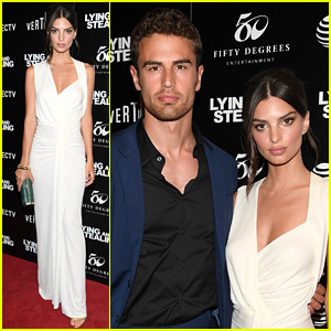Emily Ratajkowski Wows in White Dress at 'Lying & Stealing' Screening in NYC