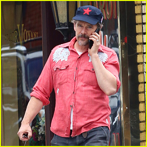 Ethan Hawke Steps Out in NYC Amid 'Tesla' Filming