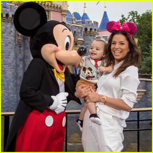 Eva Longoria Celebrates Son Santiago's Birthday at Disneyland