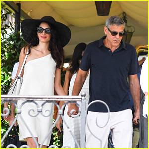 George & Amal Clooney Head Off for a Helicopter Ride in Italy